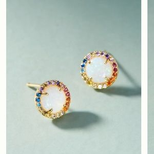Anthropologie rainbow opal posts NWT